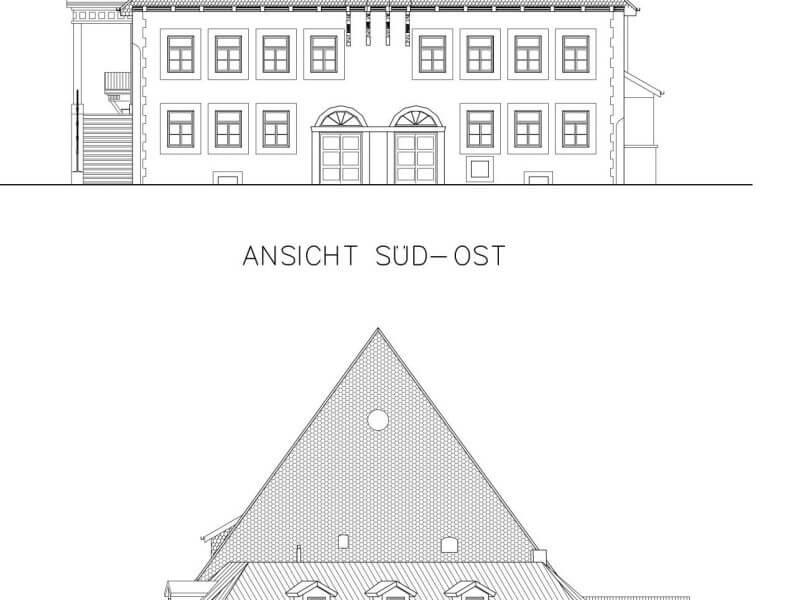 pg-lange - Altes Rathaus Osterode CAD Ansichten 1