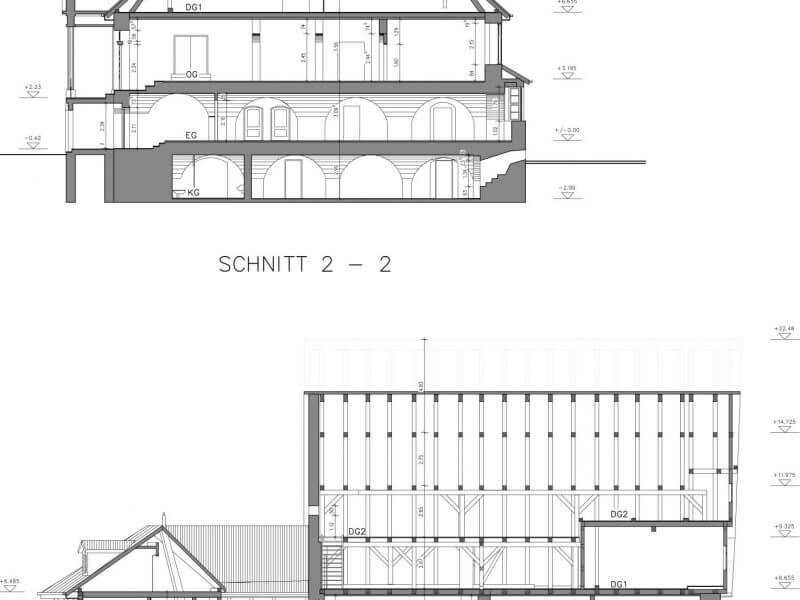 pg-lange - Altes Rathaus Osterode CAD Schnitte