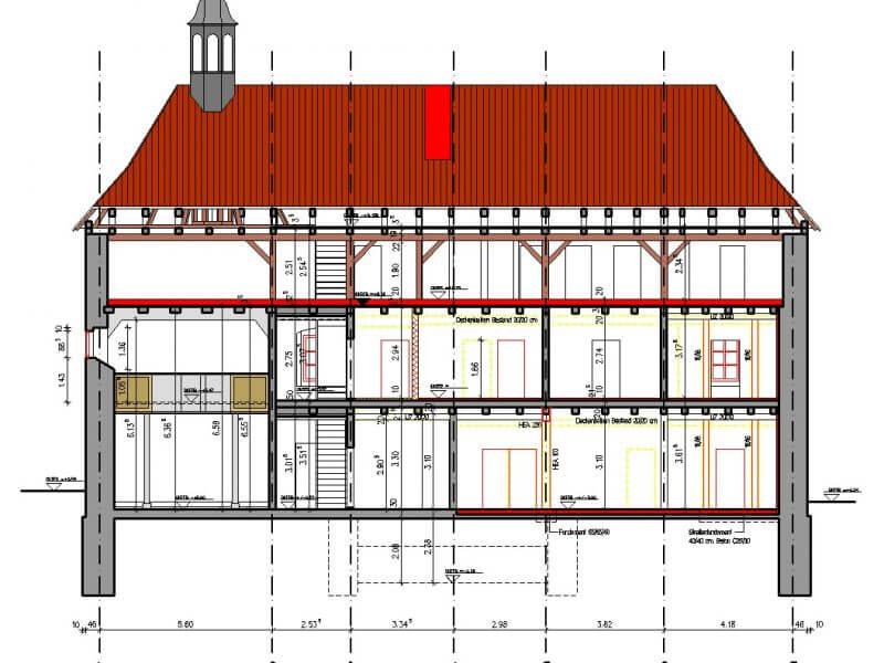 pg-lange - ehem. Waisenhaus CAD Schnitt