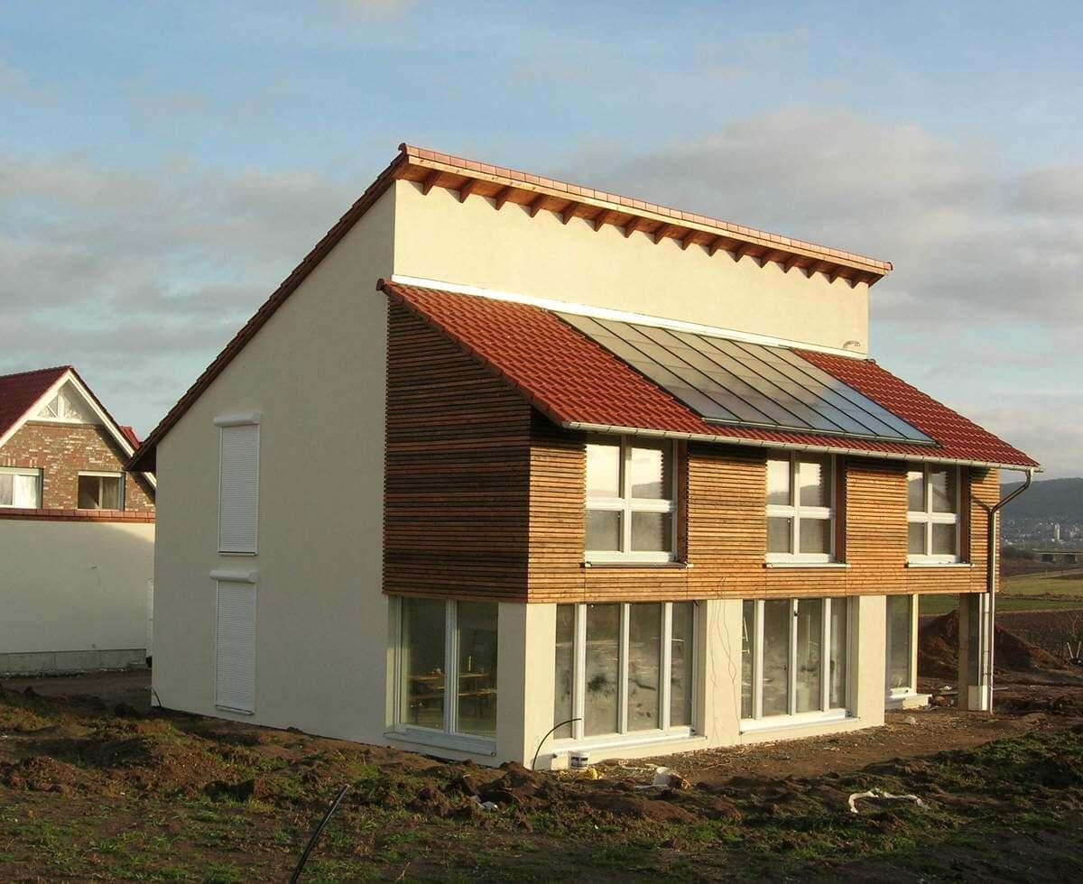 Einfamilienhaus als passivhaus planungsgruppe lange for Fachwerk bildung