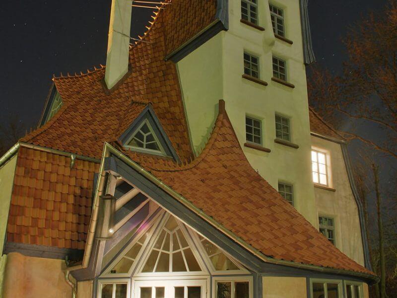 pg-lange - TdN Außenansicht bei Nacht