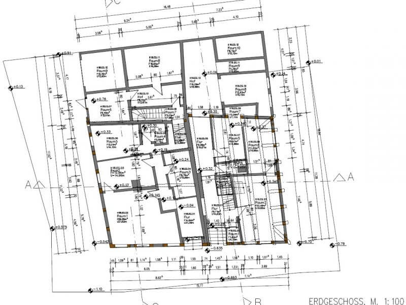 pg-lange - Schupenstiel 16,18 Northeim Bestand Grundriss Erdgeschoss