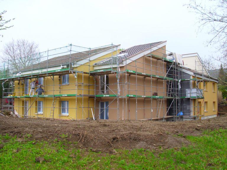 pg lange Mehrgenerationenhaus Fassade Garten02