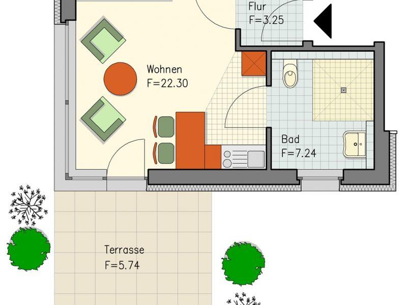 pg lange Mehrgenerationenhaus Wohnung 1