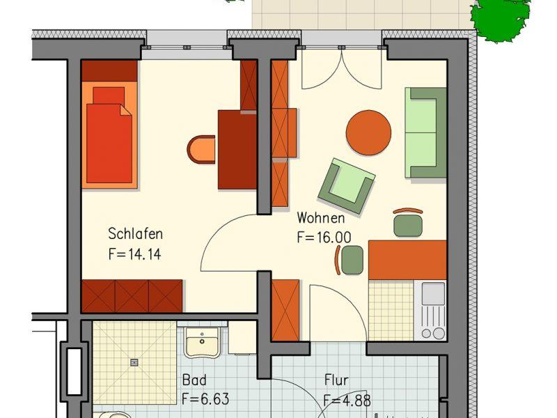 pg lange Mehrgenerationenhaus Wohnung 10